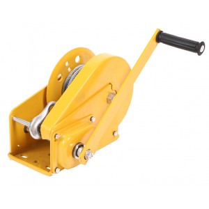 Hand winch with friction brake