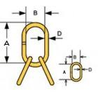 Welded master link assembly MLA