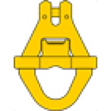 Clevis container link with side safety latch type RAK