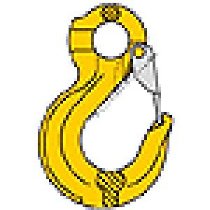 Eye sling hook with latch SOB
