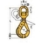 Rotācijas pašaizvēršanās āķis. Tips CLW