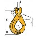 Āķis ar fiksētu aizslēgu tips CLG