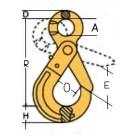 Āķis ar fiksētu aizslēgu tips CLS