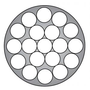 Troses struktūra 1x19+Apvalkā