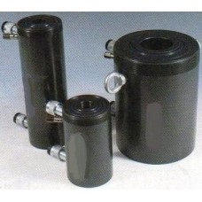 Cylinders with hollow piston, oil return