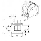 Vinčas Wormgear WW2000-5000 kg - 2D
